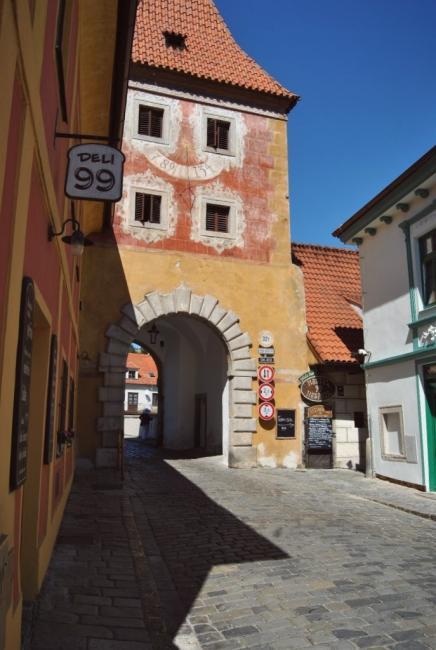 Budějovická brána v Českém Krumlově