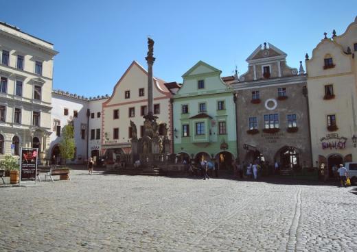Náměstí Svornosti v Českém Krumlově