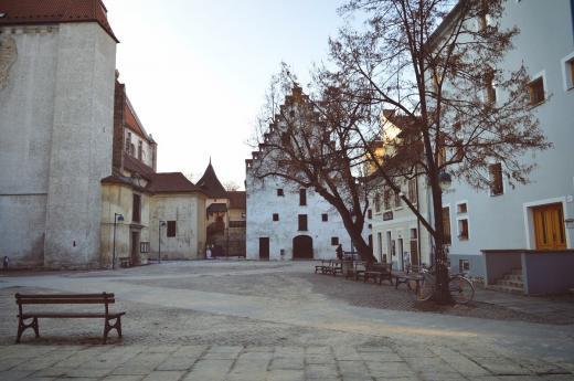 Piaristické náměstí v Českých Budějovicích