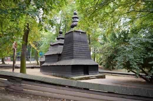 Dřevěný kostelík z Podkarpatské Rusi