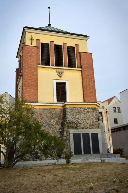 Zvonice u kostela sv. Bartoloměje v Pardubicích