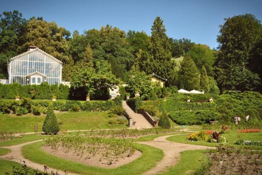 Růžová zahrada a zámecký park Konopiště