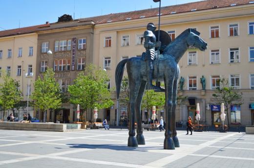Jezdecká socha Jošta Moravského