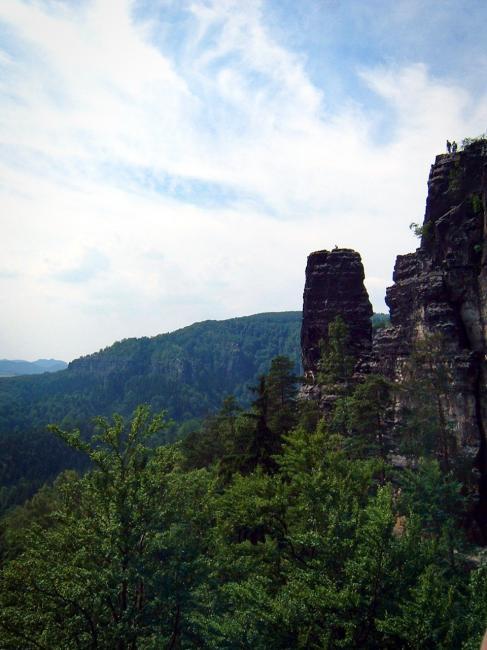Skalní věž Malý pravčický kužel