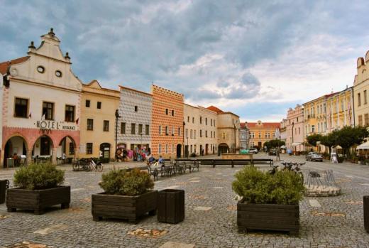 Náměstí Míru ve Slavonicích