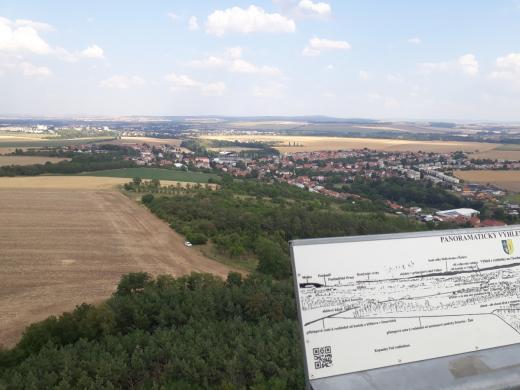 Pohled z rozhledny na Drnovice