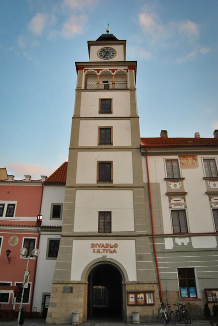 Vyhlídková věž staré radnice v Třeboni