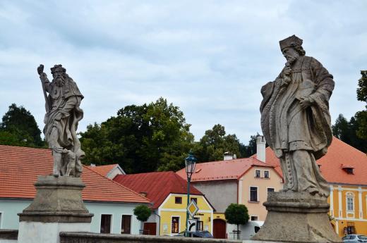 Barokní most před radnicí v Brtnici