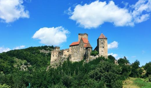 Hrad Hardegg v Rakousku