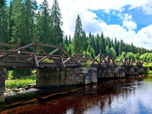 Hradlový most Rechle u Modravy