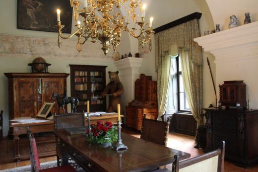 Interiér na zámku Červená Lhota