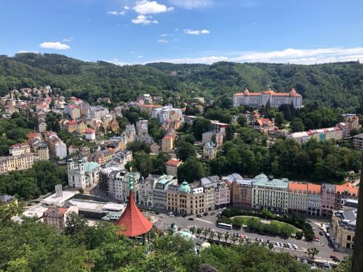 Karlovy Vary z Vyhlídky Petra Velikého