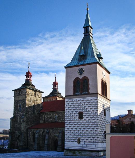 Kostel sv. Štěpána a zvonice Kouřim