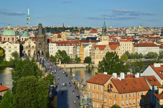 Pohled z Malostranské mostecké věže