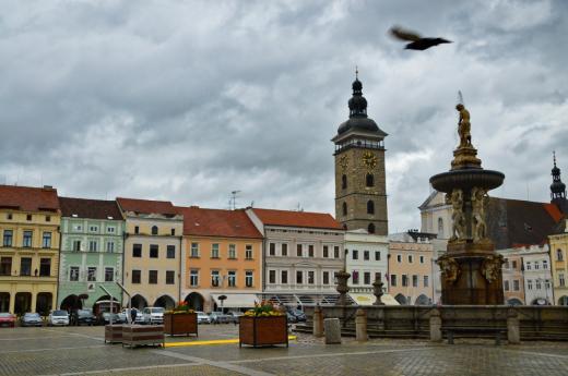 Náměstí Přemysla Otakara II. v Českých Budějovicích