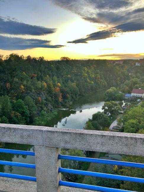 Duhový most v Bechyni