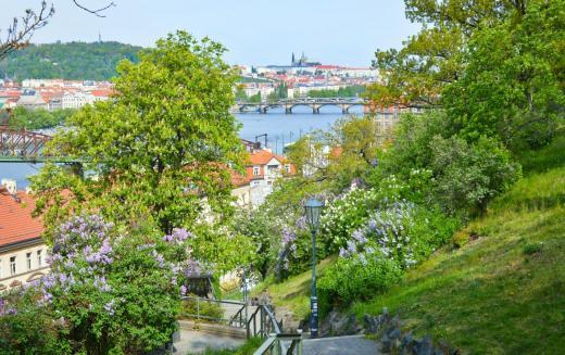 Park pod hradbami Vyšehradu