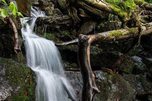 Vodopády v přírodní rezervaci Zimný potok
