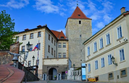 Staré zámecké schody - východní brána Pražského hradu