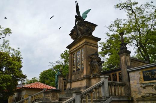 Vyšehradský hřbitov a Slavín